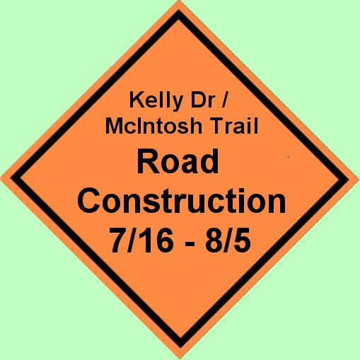 Expect delays on Kelly Drive in Peachtree City beginning July 16