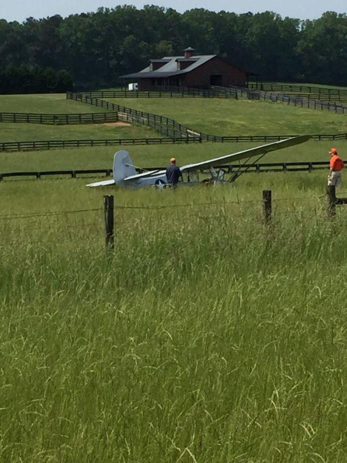 World War II observation plane crash-lands safely, no injuries